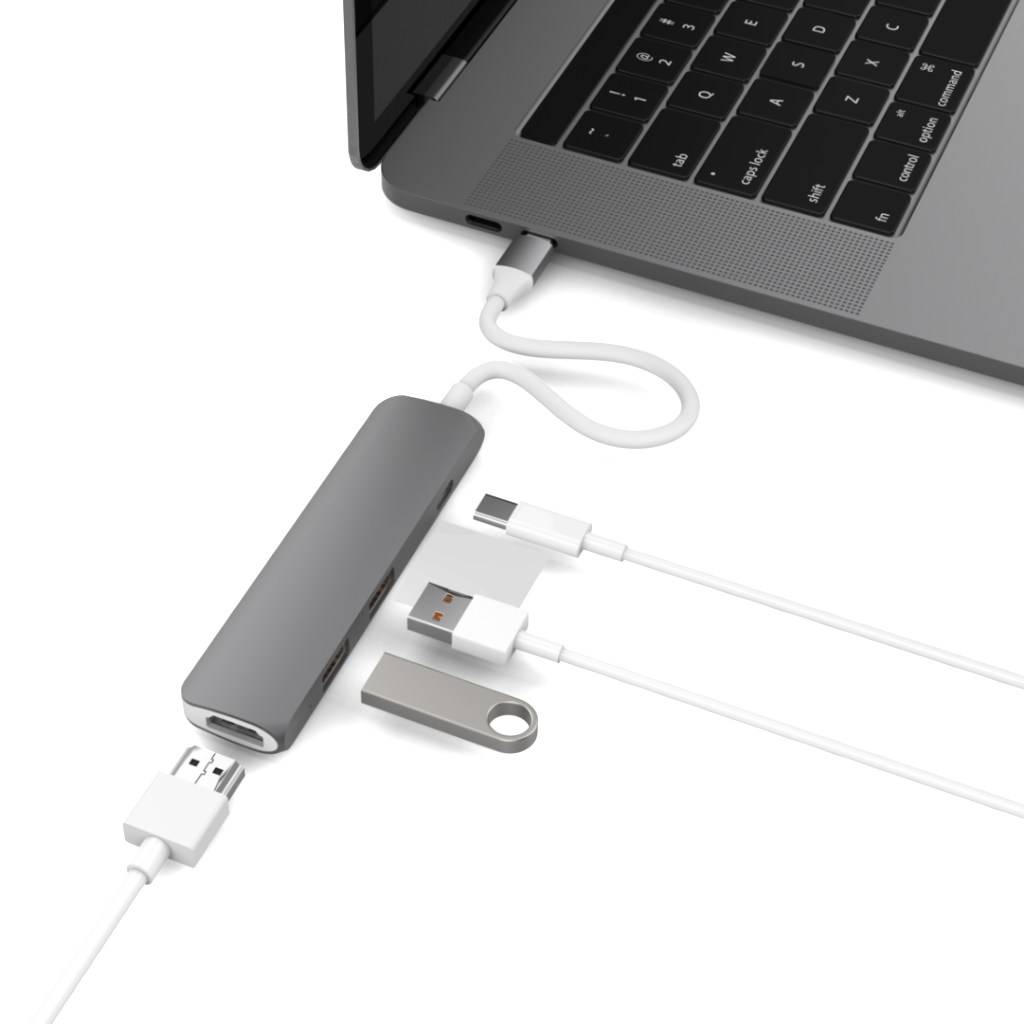 HYPERDRIVE USB TYPE-C HUB WITH 4K HDMI SUPPORT (FOR 2016 MACBOOK PRO & 12″ MACBOOK, SURFACE)