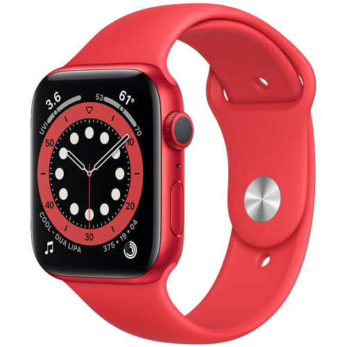 Apple Watch Series 6 Vỏ Nhôm Red ( Product ) - Dây Cao Su Red ( Product ) ( GPS )